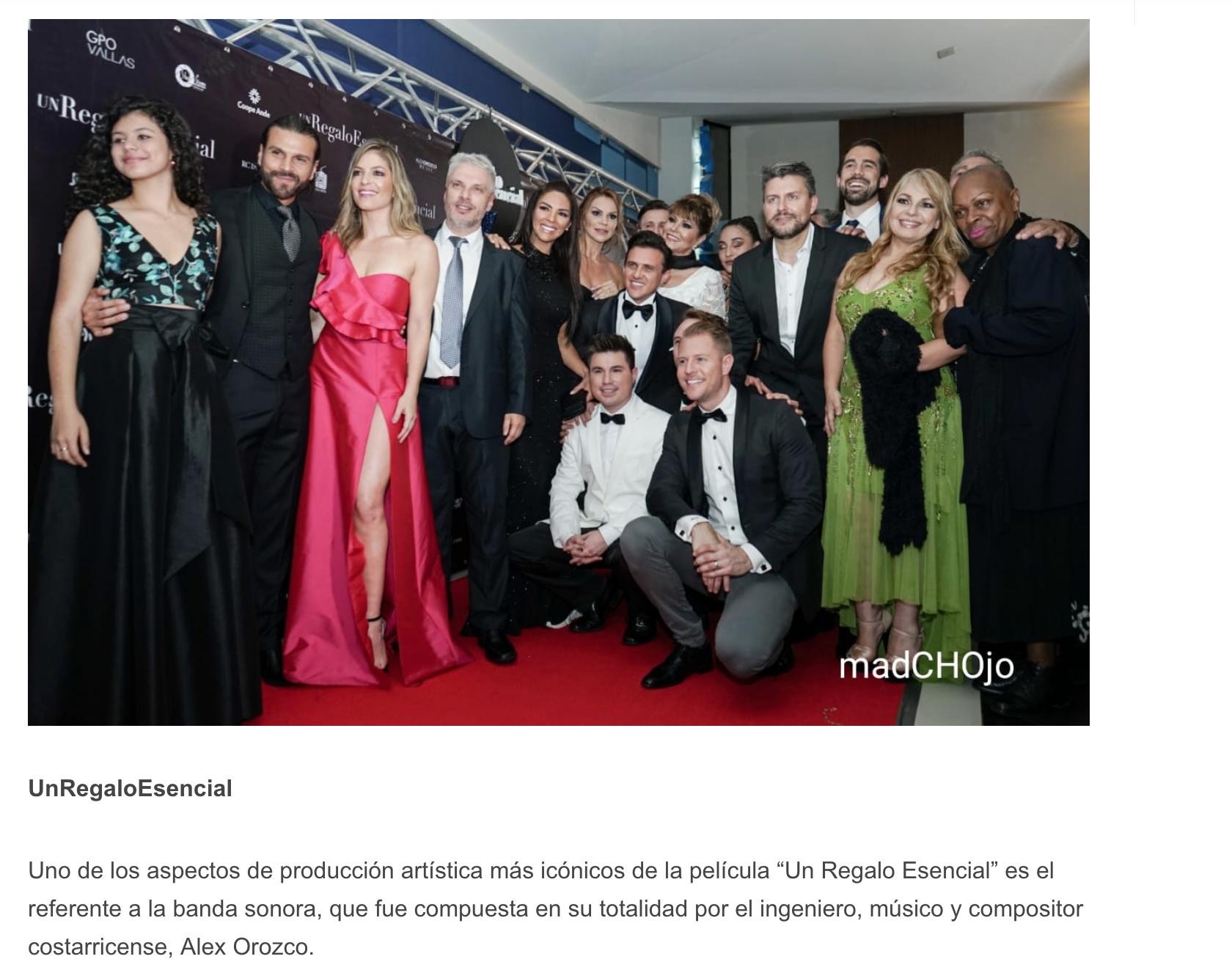 """El equipo técnico de la película """"Un Regalo Esencial"""" se fortaleció con la destacada participación del joven colombiano, Manuel Velásquez, quien ejecutó la dirección de fotografía. Por otra parte, la joven mexicana, Elizabeth Soto, fue la guionista quien entretejió la historia que juega con el lapso de generaciones de los años 80 y 2025."""