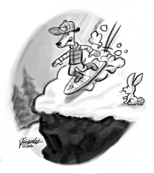 Freddys snowboarding adventure