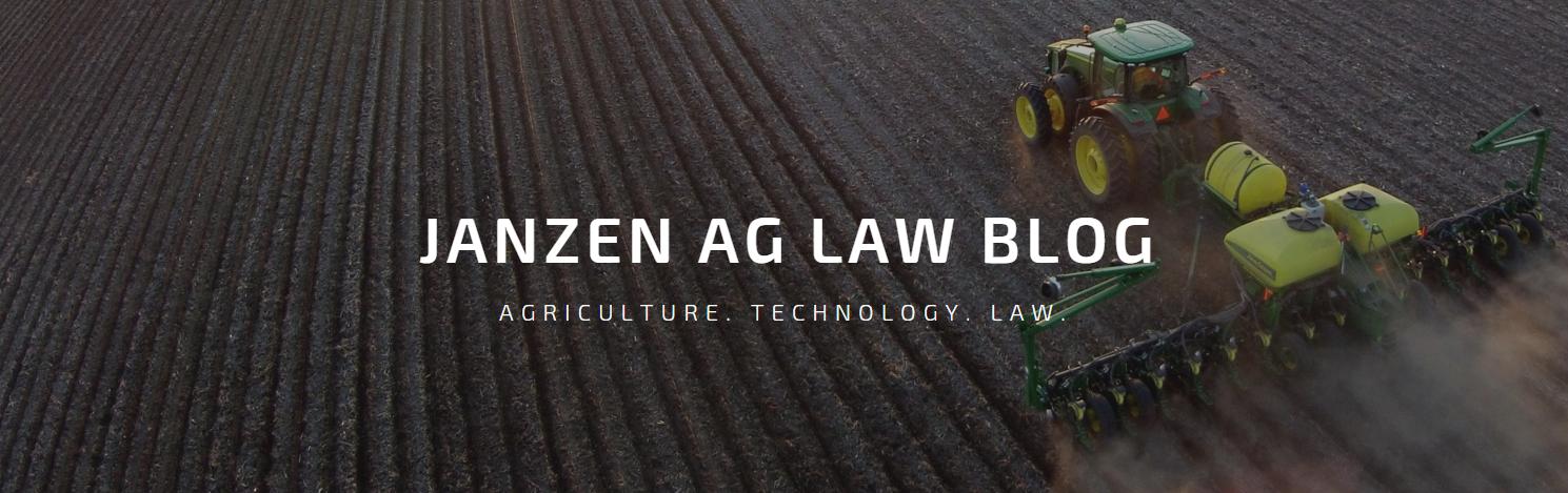 Janzen Ag Law Blog 3.0