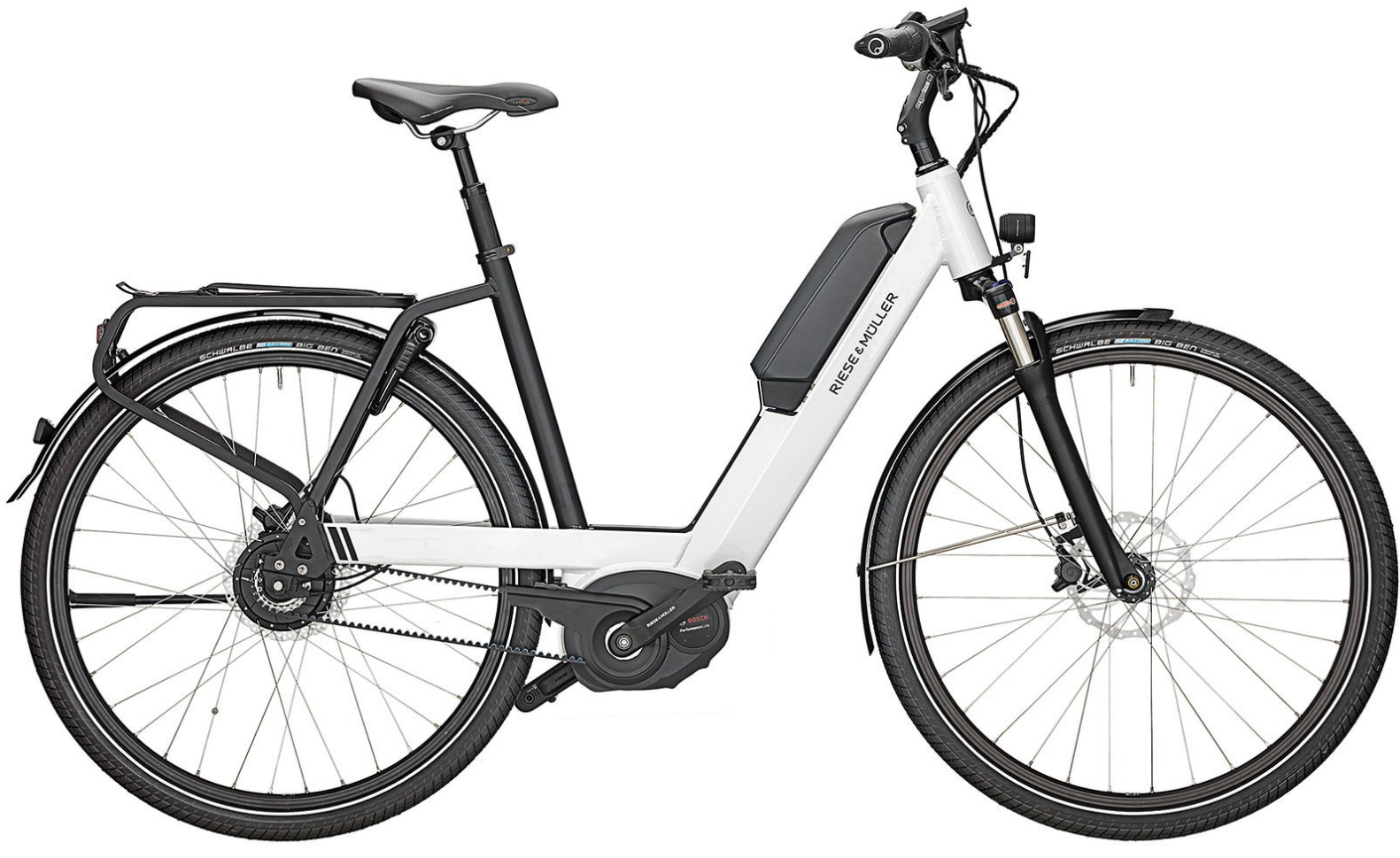 The Nevo uses an even more forward location to get more traction on the front wheel.