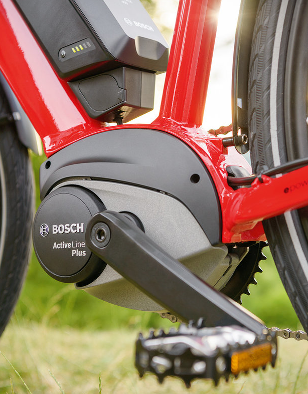 New for 2018 Bosch is tipping its hat to competitors Brose and Shimano by going back to a smaller. lighter motor with a large chainring.