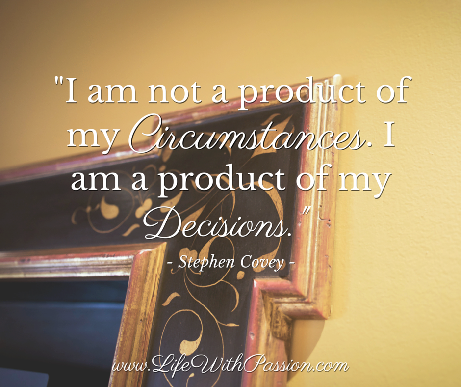 I am not a product of my circumstances. I am a product of my decisions. - Covey - Contact.png