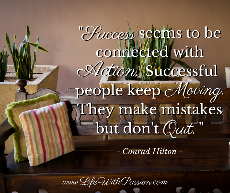 Success seems to be connected with action. - Hilton - Contact.png