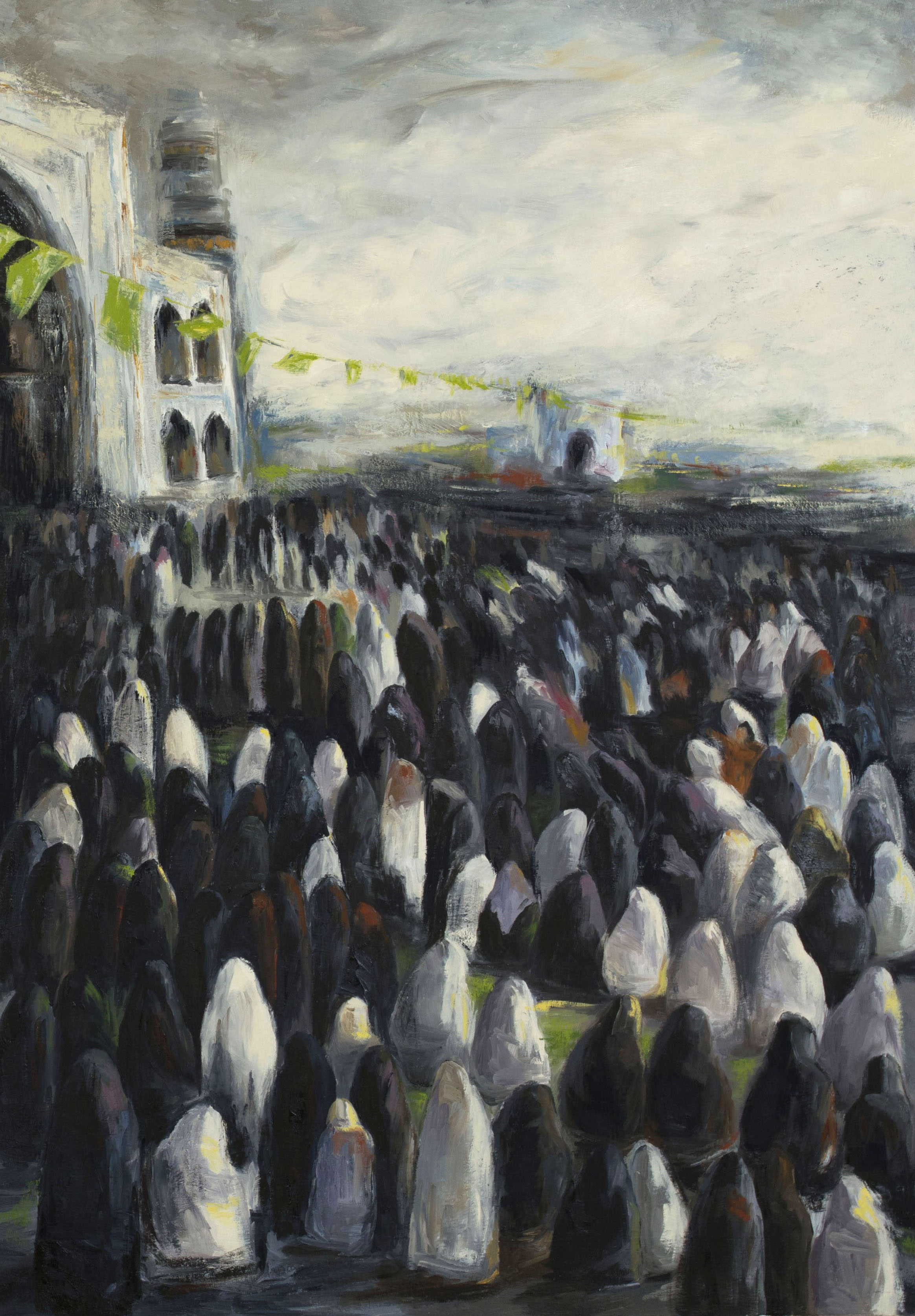 The crowd (diptych, right panel), 2013
