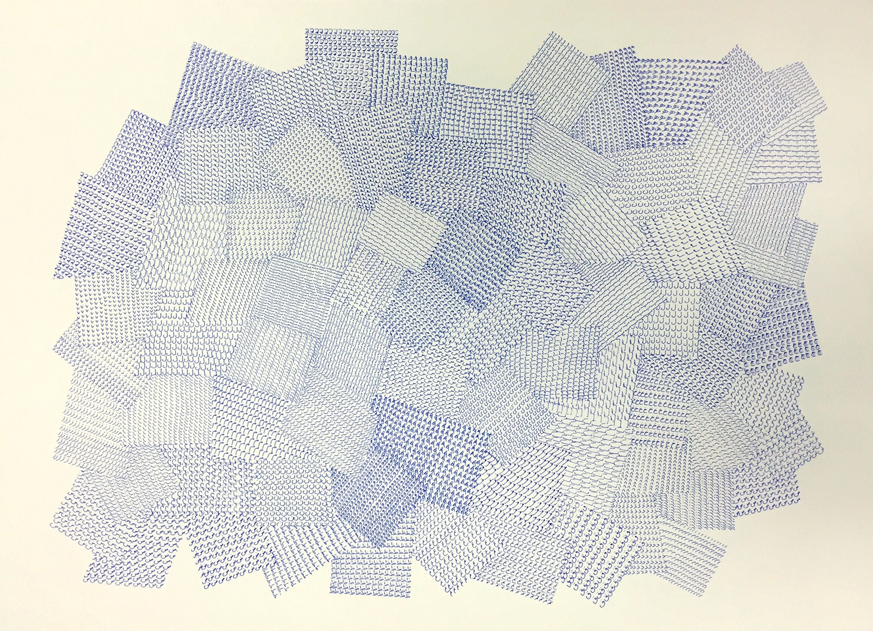 "Thirty two I, 2015   Pen on Bristol paper, 22"" x 30"""