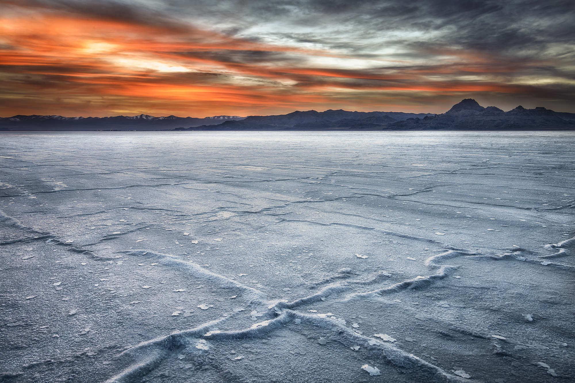 Early morning, salt flats