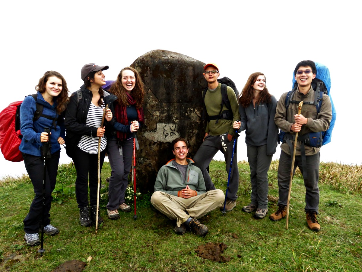 Camp Nejeda Counselor, Jack Aiello (center) is currently spending a year of service and learning in India. Jack is pictured here with his fellow Princeton University students during their trekk through the Himalayan Mountains.