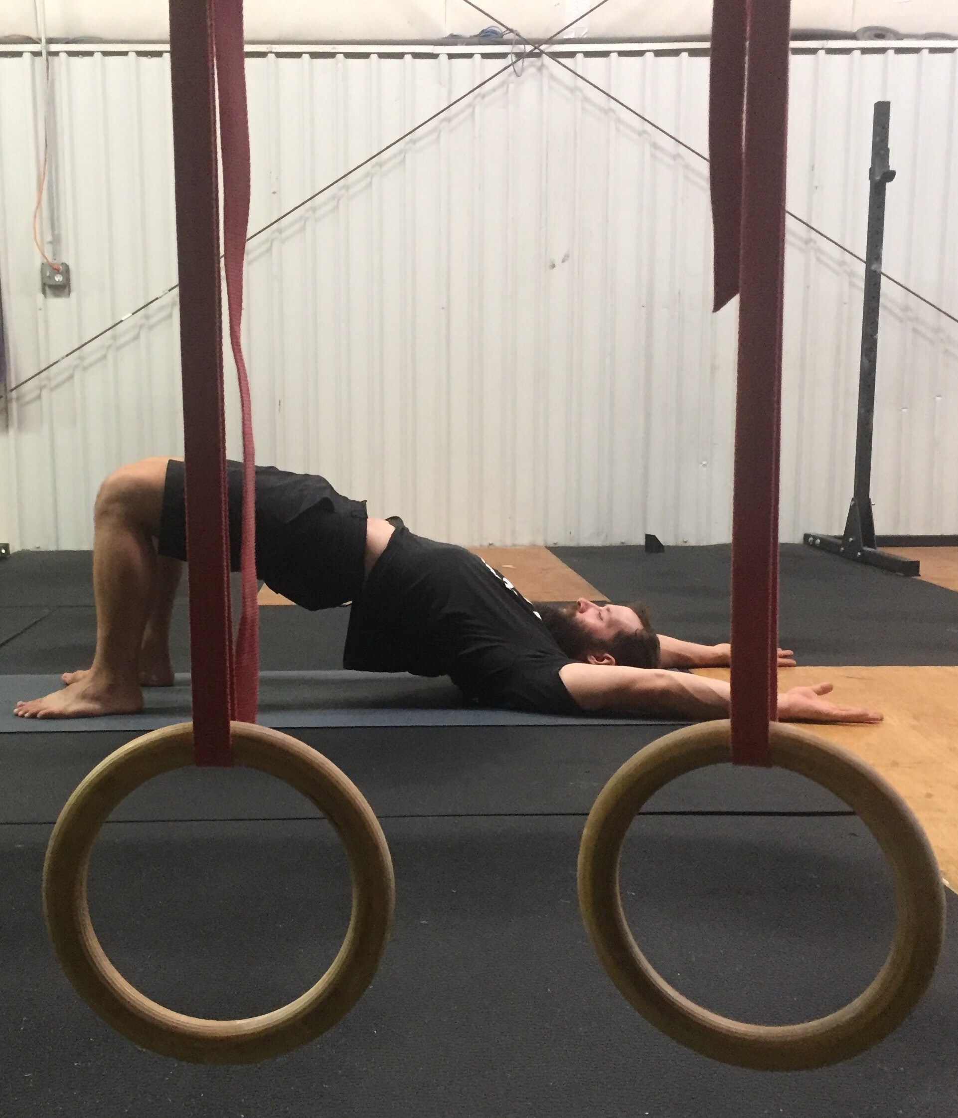 Iso-bridge to help engage the muscles in the posterior chain.