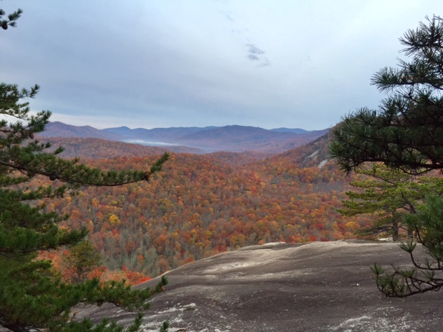 Short hike up to Slate Rock for an epic fall vista or great spot for an overnight adventure.