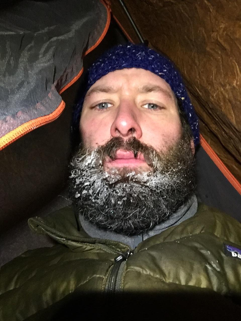 Not a happy camper face.
