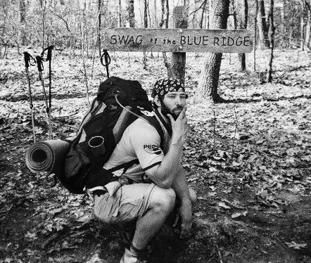 Striking a pose on the Appalachian Trail.