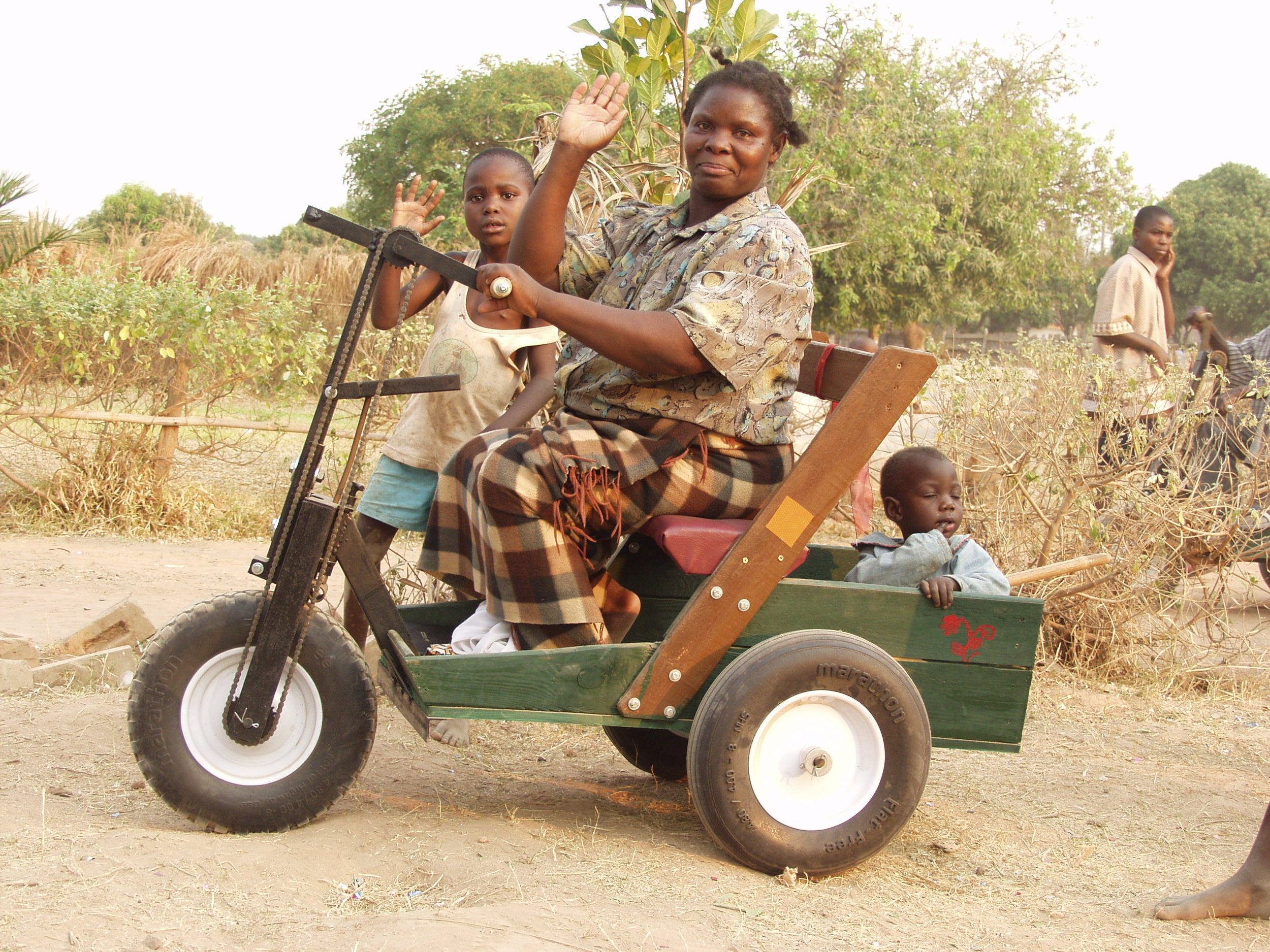 PETs needed - Personal Energy Transportation carts were first distributed in Kazembe in 2010 by HFTW and changed lives by providing mobility to people with disabilities. More carts are needed badly needed at this time. The carts are available at no cost but transportation expenses from Kitwe to Kazembe must be covered.