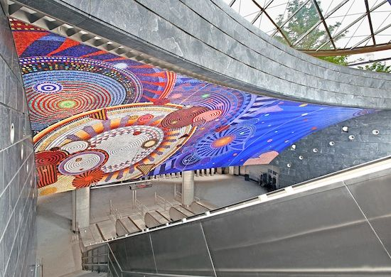 Funktional Vibrations (2014). Commissioned by Metropolitan Transportation Authority Arts & Design. Photo by Rob Wilson.