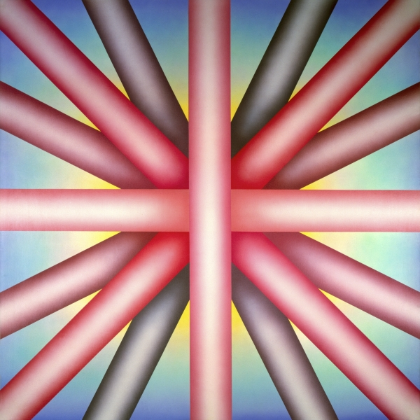 """Judy Chicago """"Heaven is for White Men Only"""" 1973 New Orleans Museum of Art. Photo by Donald Woodman"""
