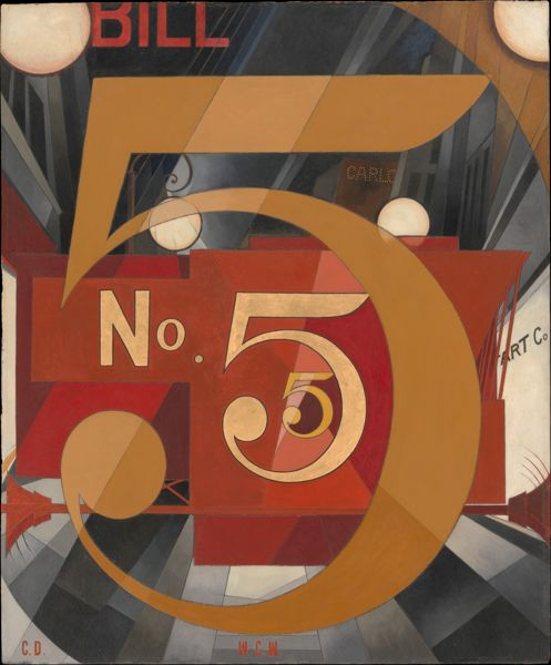 """I Saw the Figure 5 in Gold"" 1928 Charles Demuth"