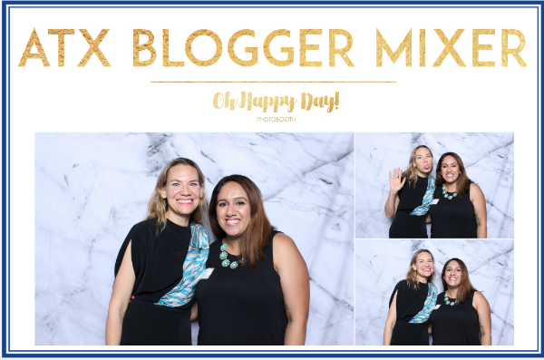 Cheesing in  Oh Happy Day photo booth with my new friend  Rachel