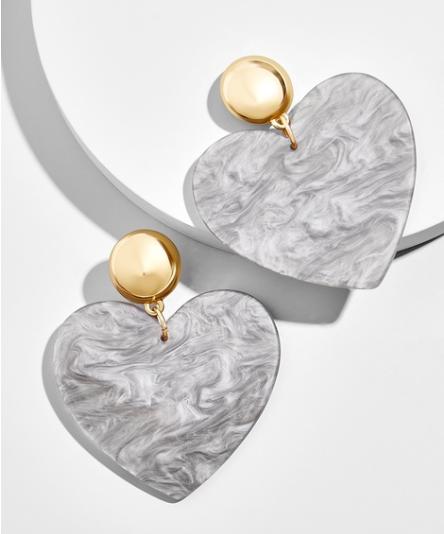 Andree Heart Drop Earrings