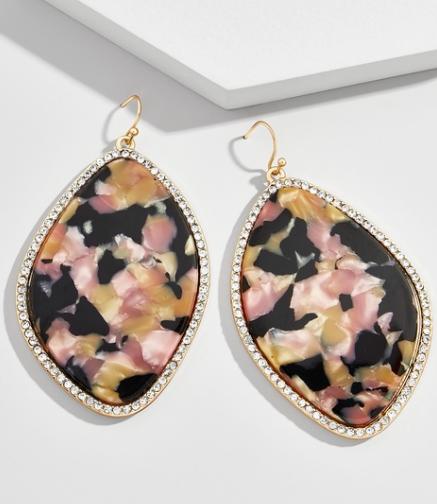 Toiya Resin Drop Earrings - SS