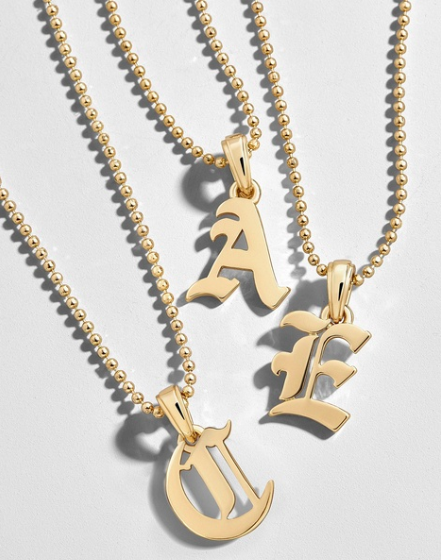 Roxana Initial Charm Necklace