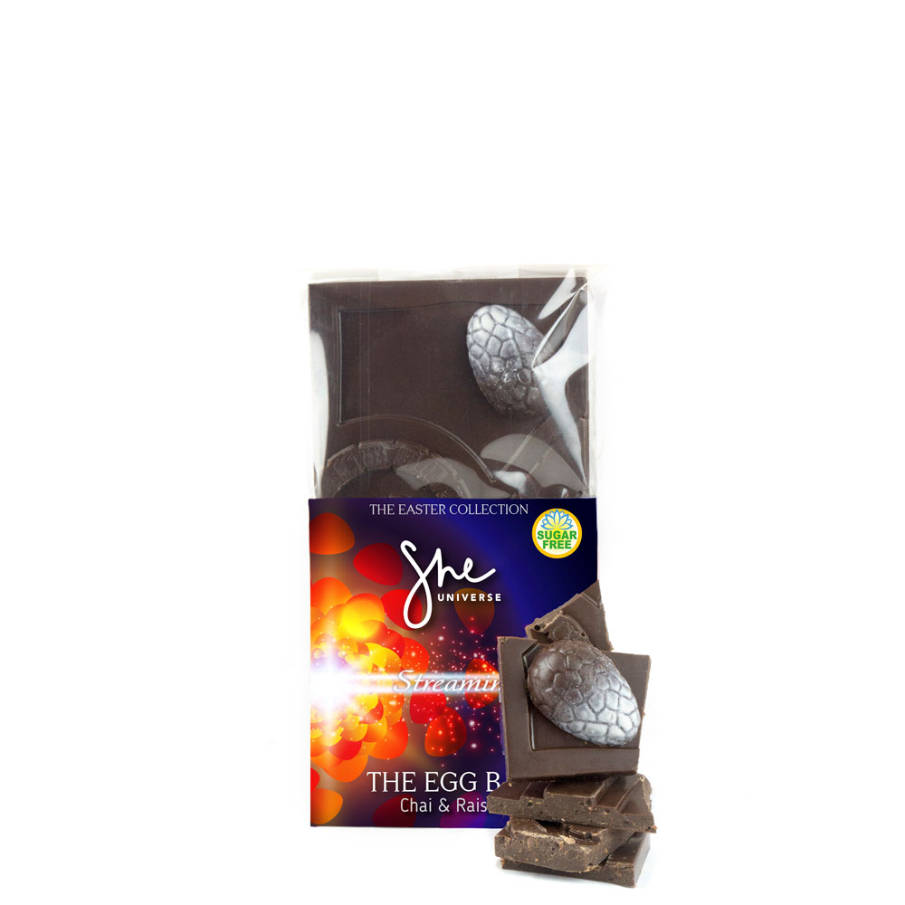 The Egg Bar - Our sugar free, hot-cross-bun-flavoured Easter bar.