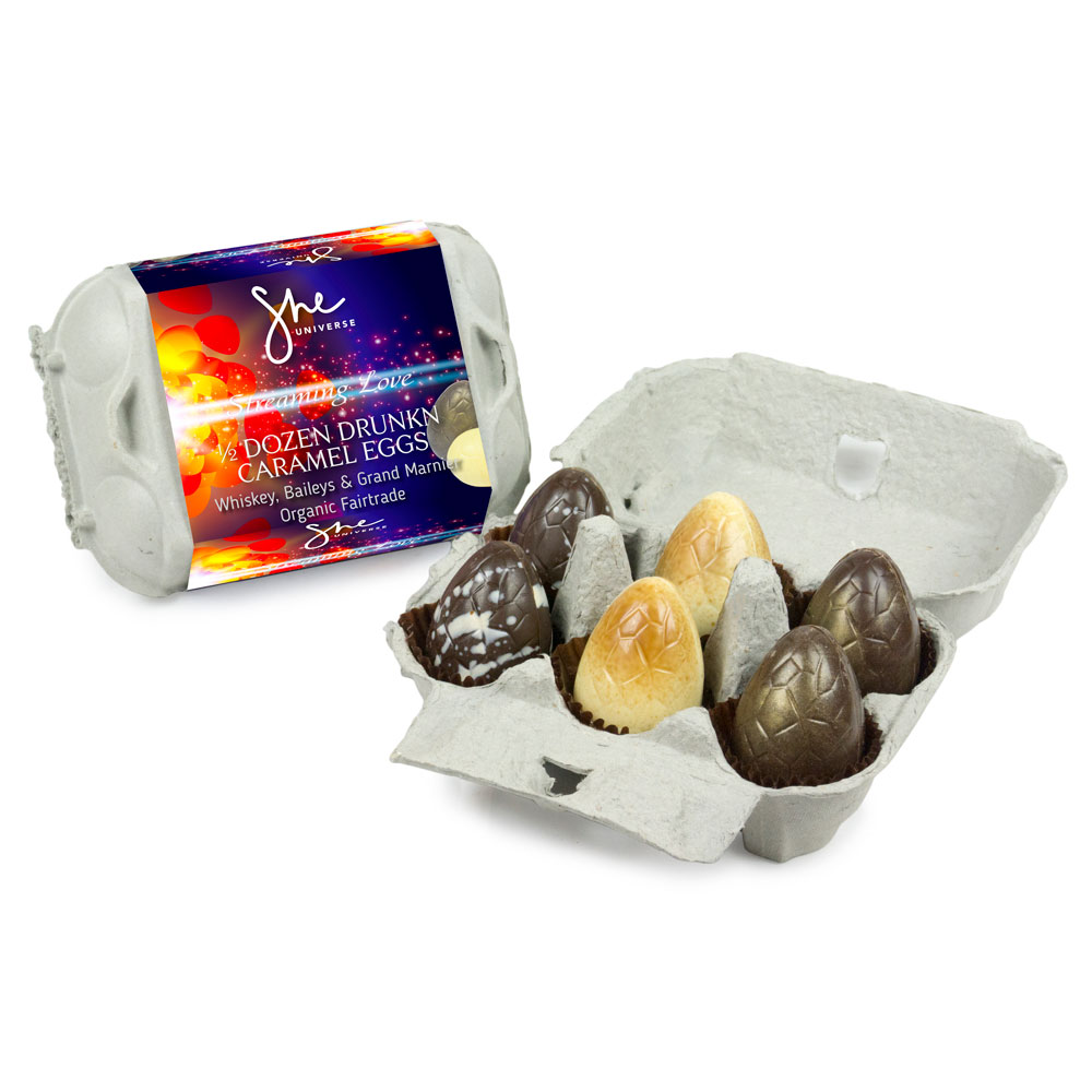 ½ Dozen Drunkn Caramel Eggs - Winning gift of 2018, ½ dozen egg sized eggs filled with caramel liqueurs