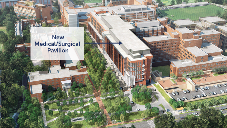 New Planned Medical Surgical Pavilion at MGUH