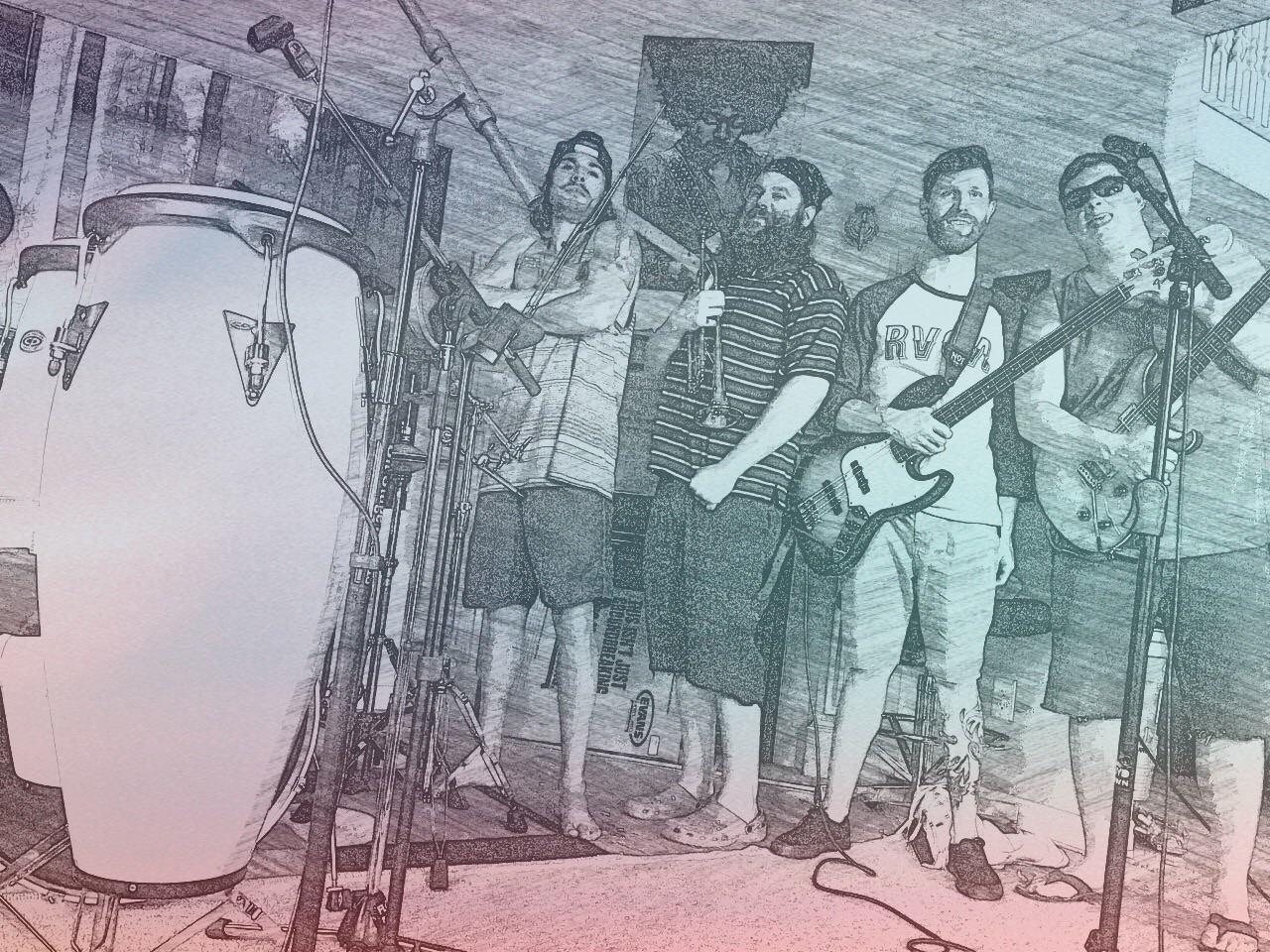 Left to right: Dustin King, Ryan Daknar, Rhys Boardman and Josh Loewen