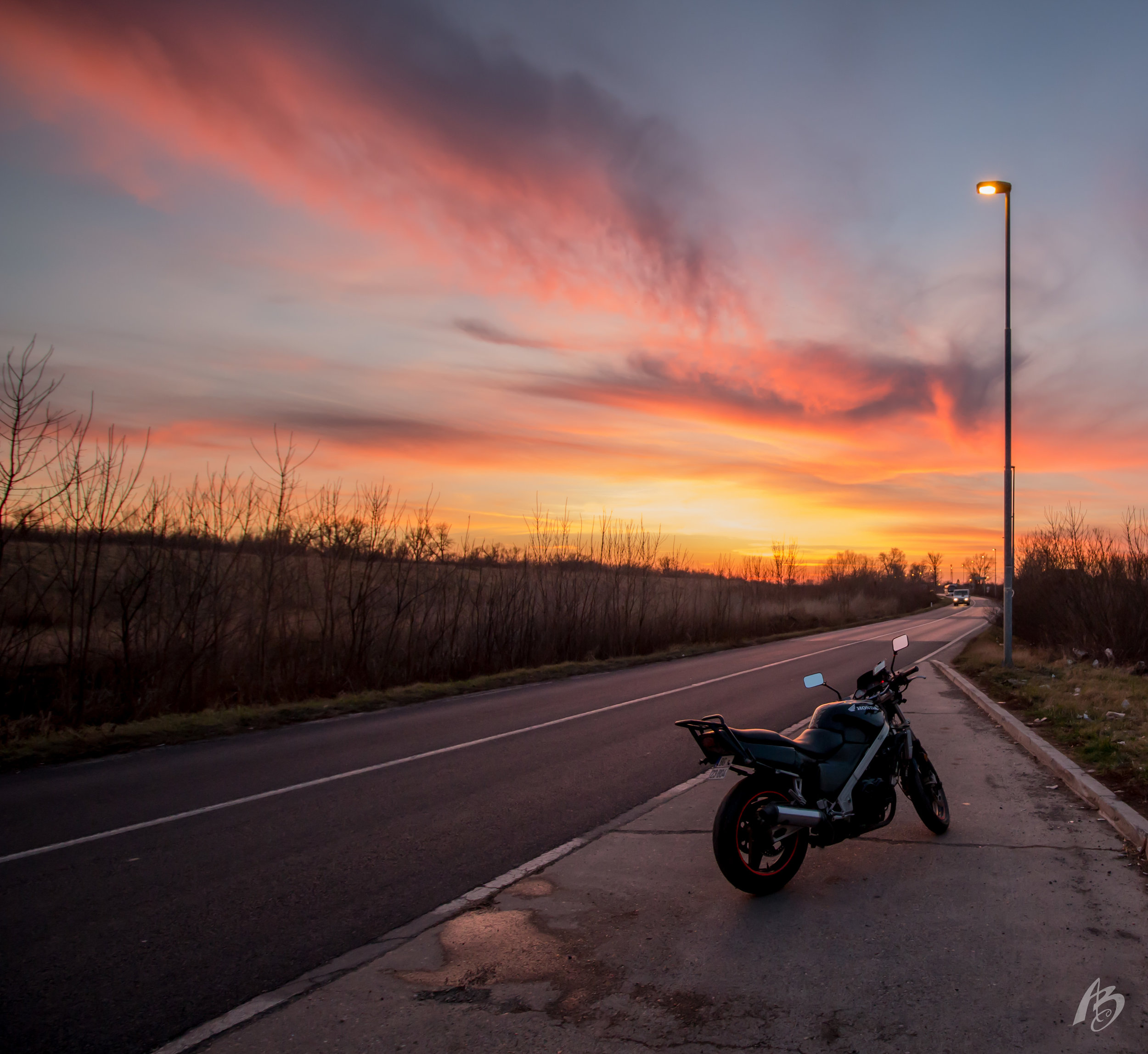 Pančevo, Serbia at sunset.