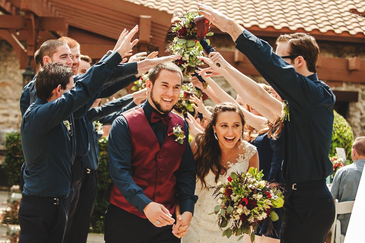 TANNER + HIS WIFE, KARA,ON THEIR WEDDING DAY, MARCH 12, 2016.