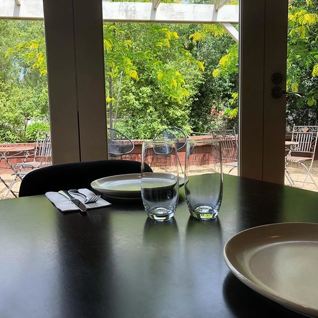 This Friday's lunch special is... Chicken Larb (chicken salad with ginger, lime, fish sauce, mint & peanuts) $15 with a glass of wine or a beer ~ perfect weather to enjoy the gardens ~