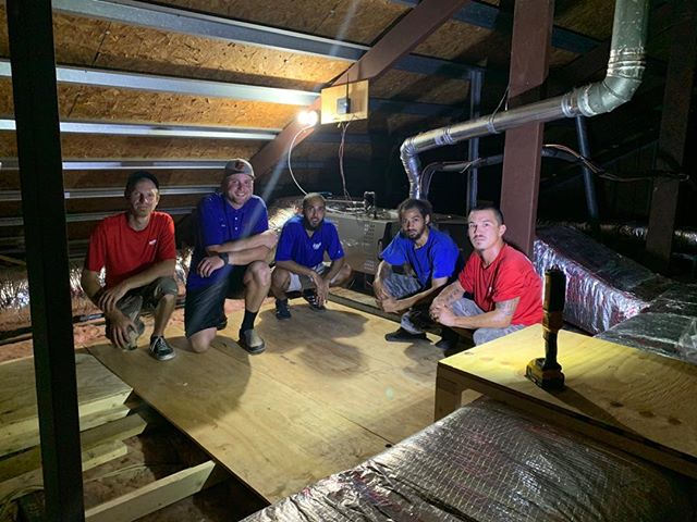 A tough hot job in an attic for a week.  The guys stuck with it and did a beautiful job.  #hvac #virginiabeach #teamwork #lennox