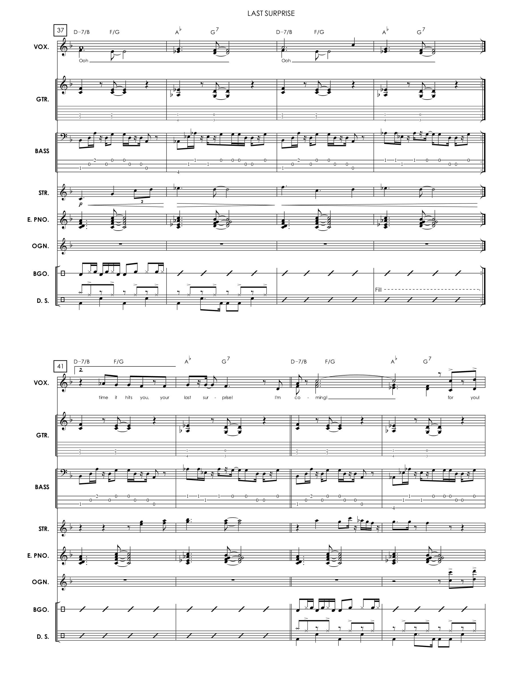 Jazz/Rock Band Score