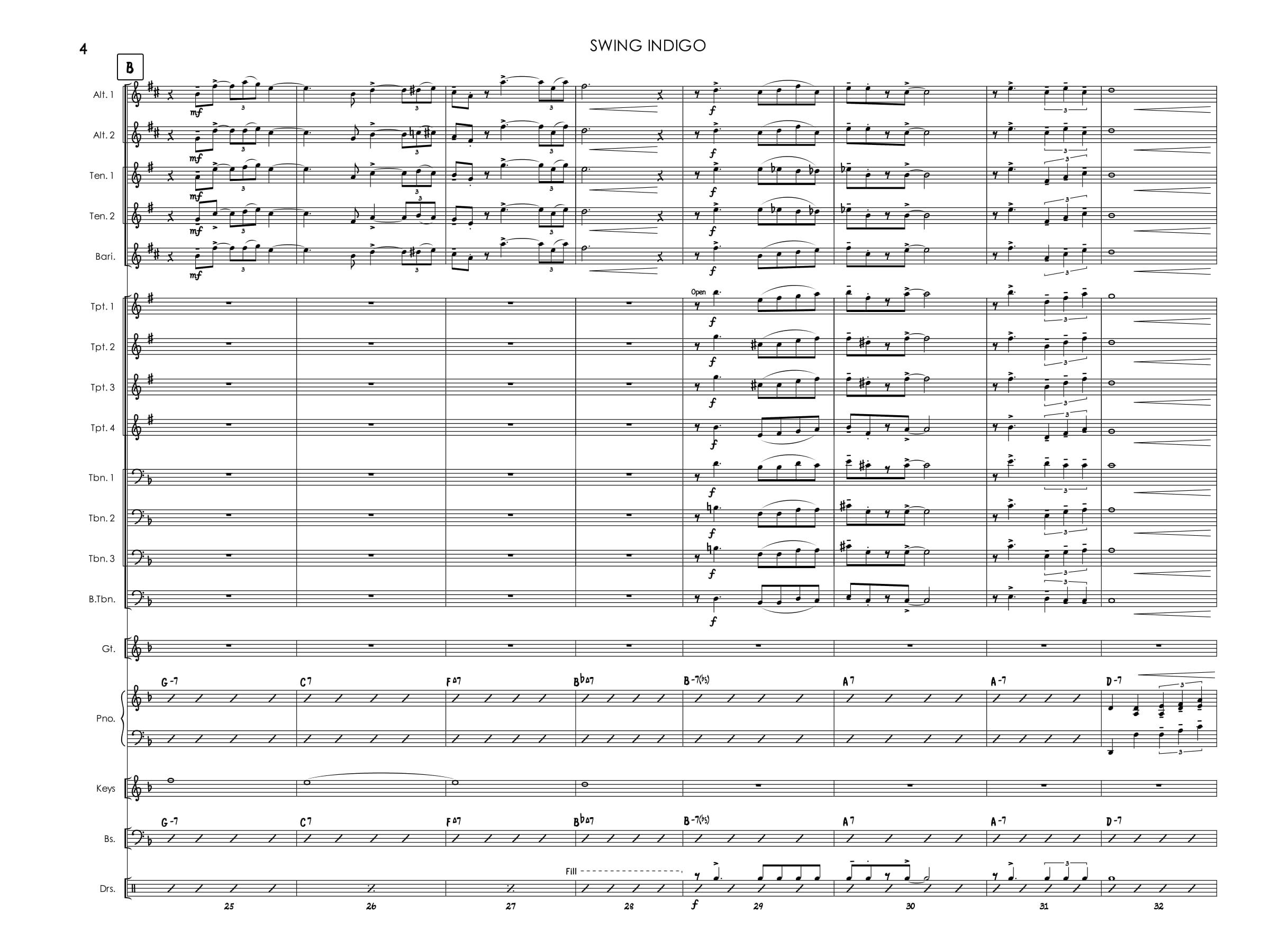 Jazz Band Score