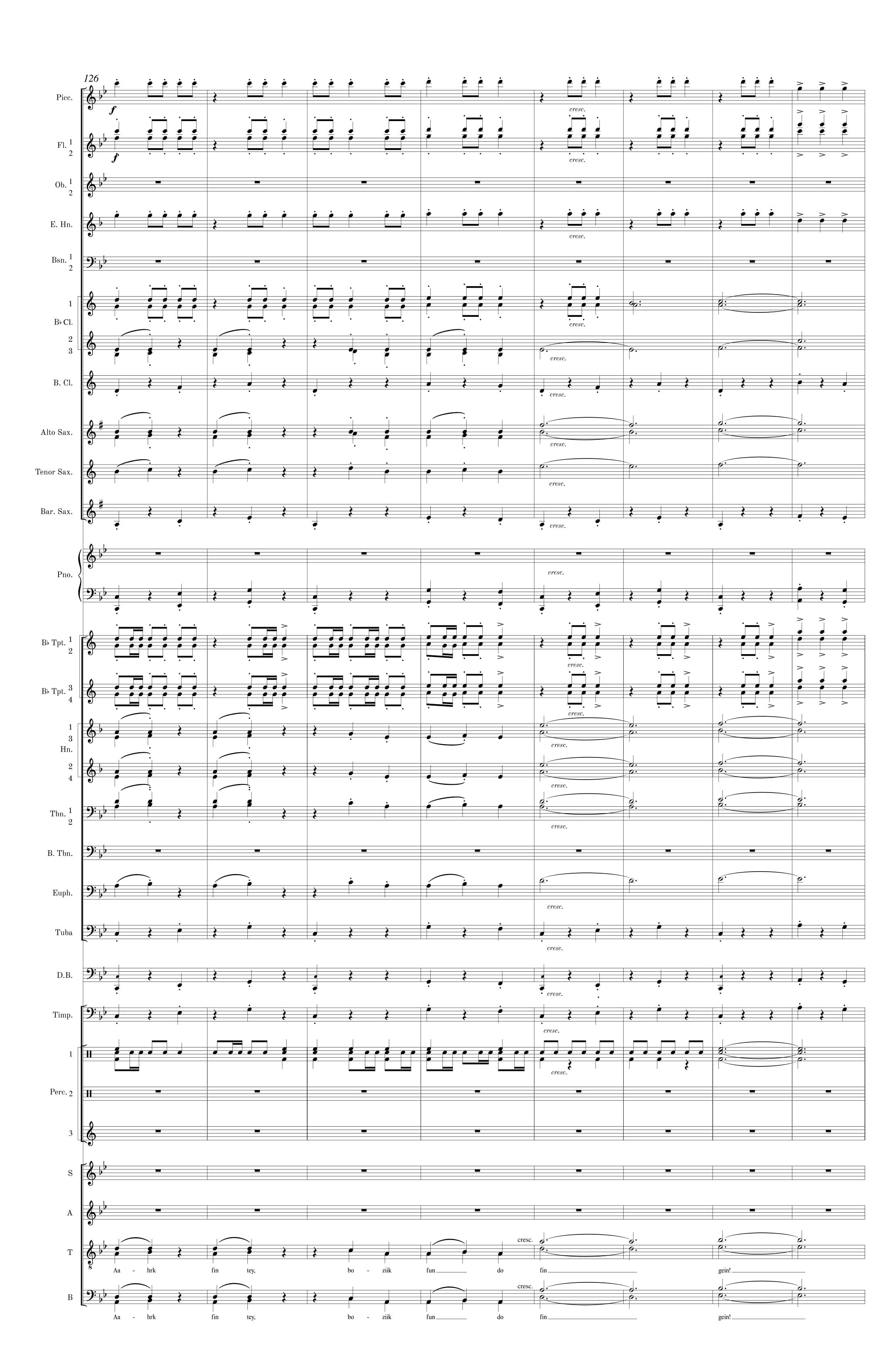 Symphonic Band Score