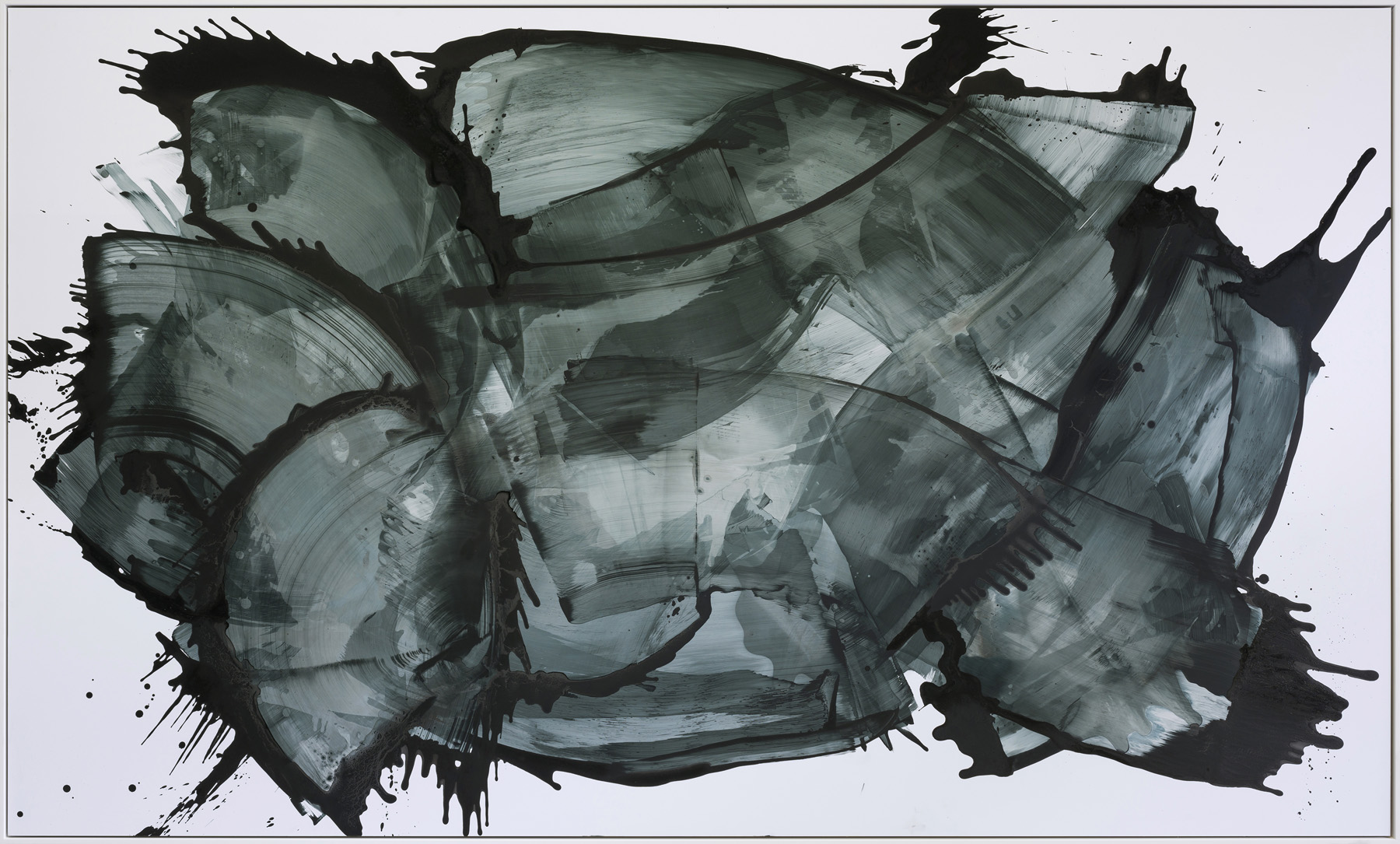 Europa , 2018  Acrylic and Indian Ink on Paper  250 x 155 cm