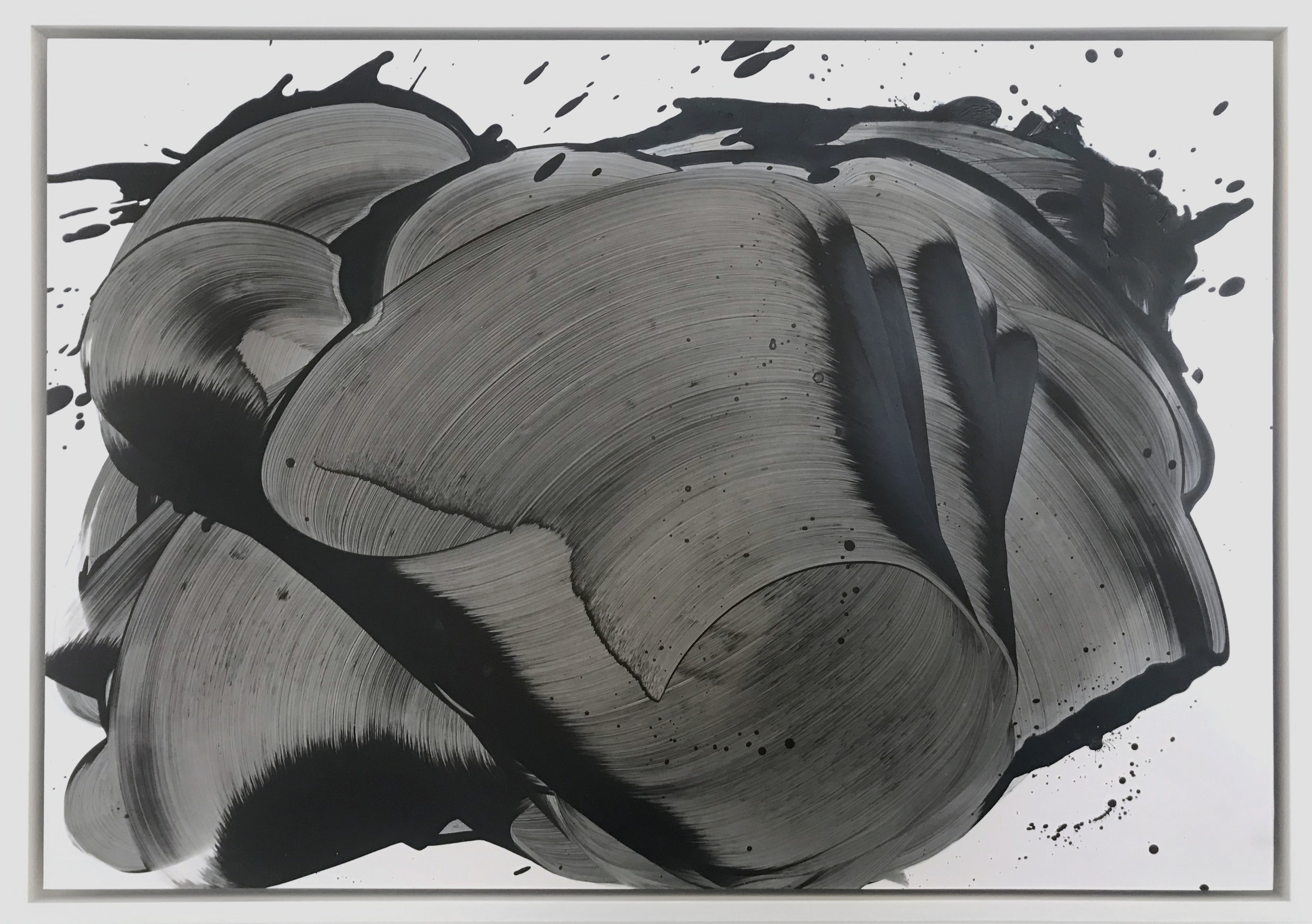 from the Charybdis series, 2018  Oil on paper  44.2 x 62.2 cm