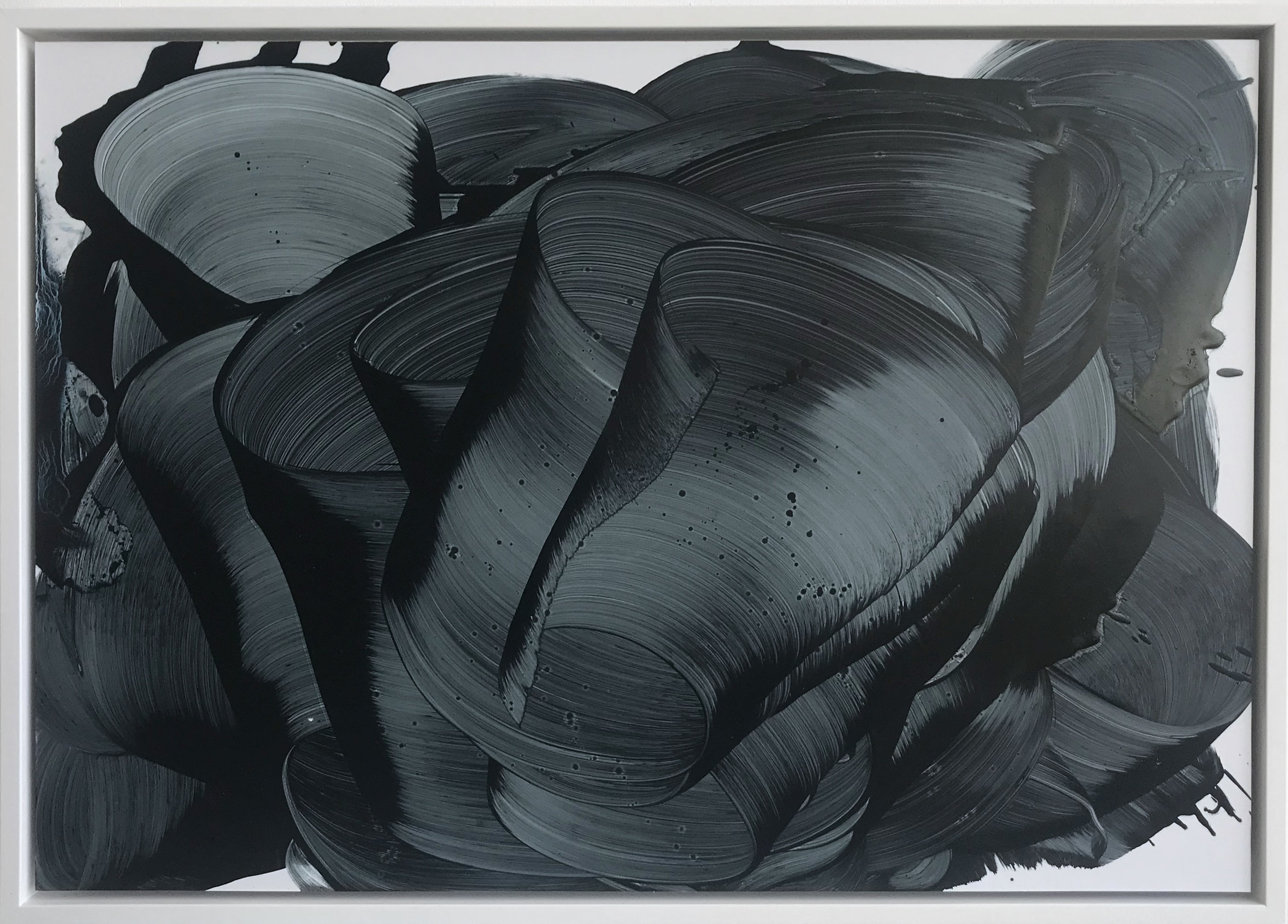 from the Charybdis series (Bluest Black), 2018  Oil on paper  44.2 x 62.2 cm
