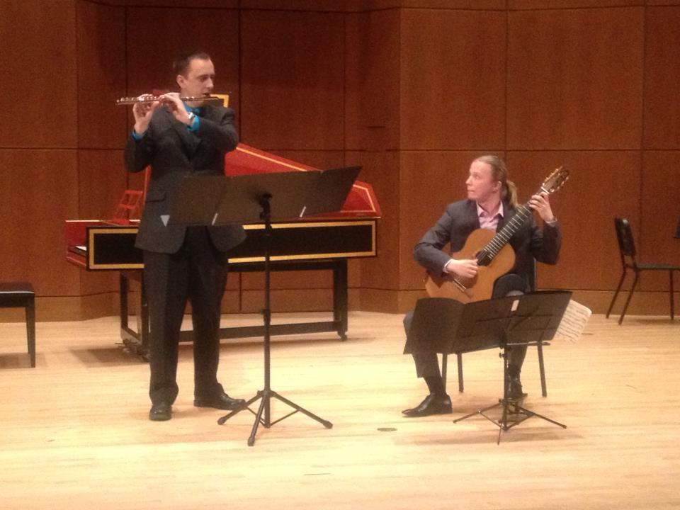 Duet with Bernard Blary at UBC's Roy Barnet hall