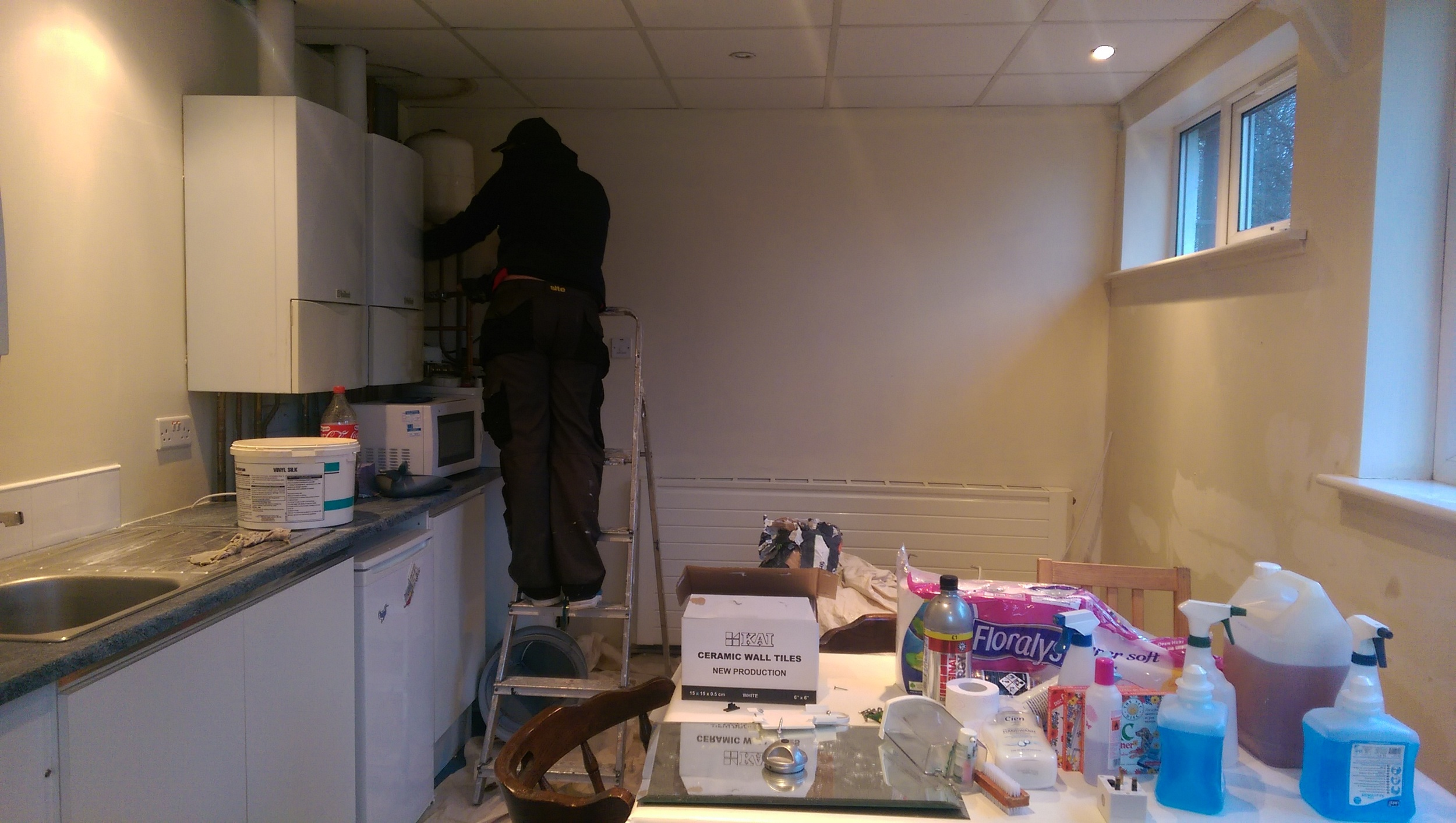 The staff room getting a makeover