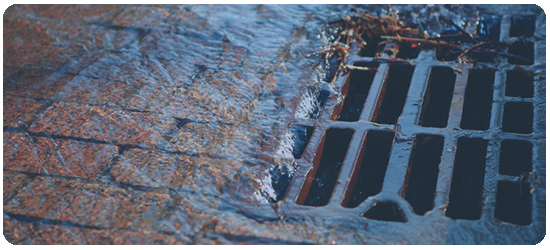 BLOCKED STORMWATER DRAIN -