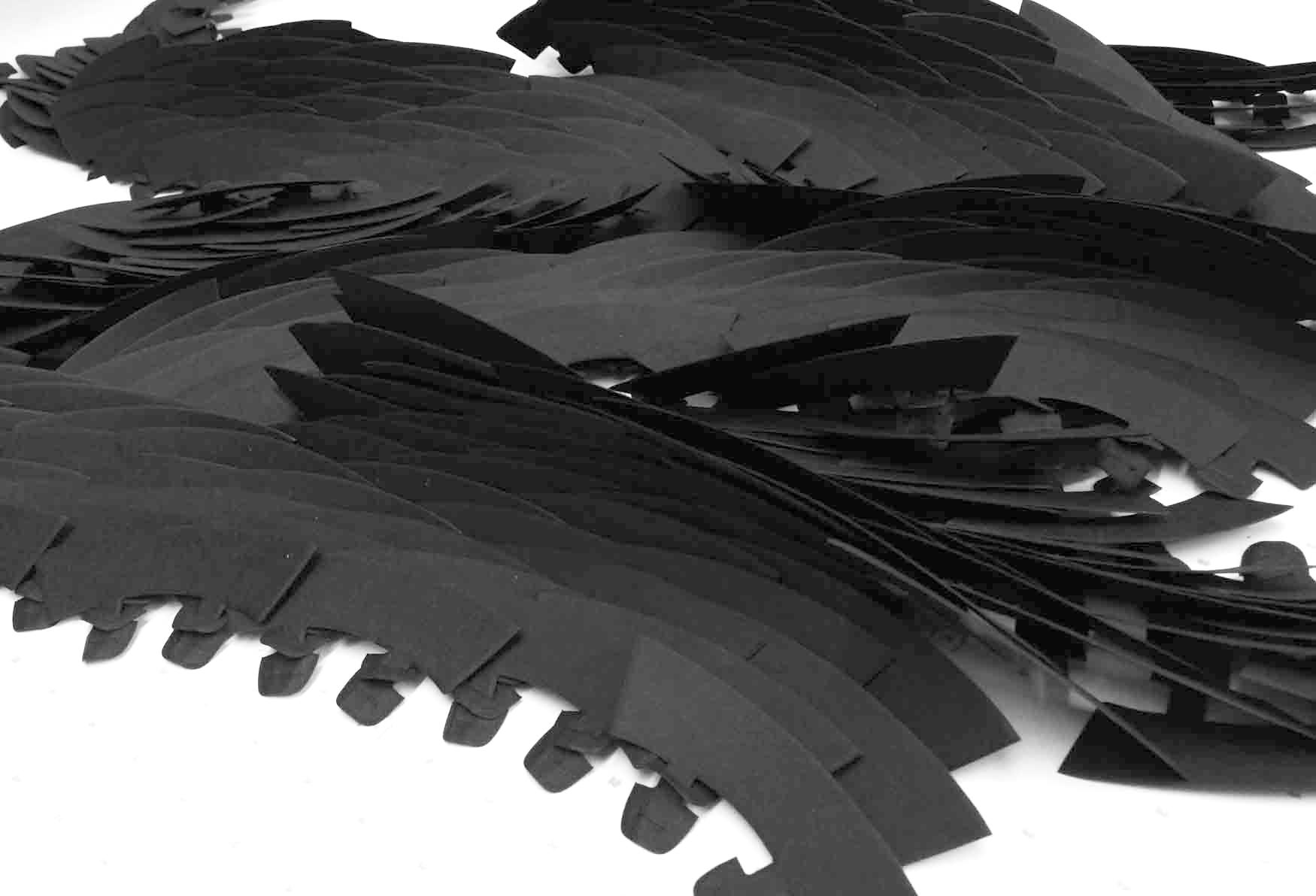 building die-cut hand-linked 'susurrus' sculpture