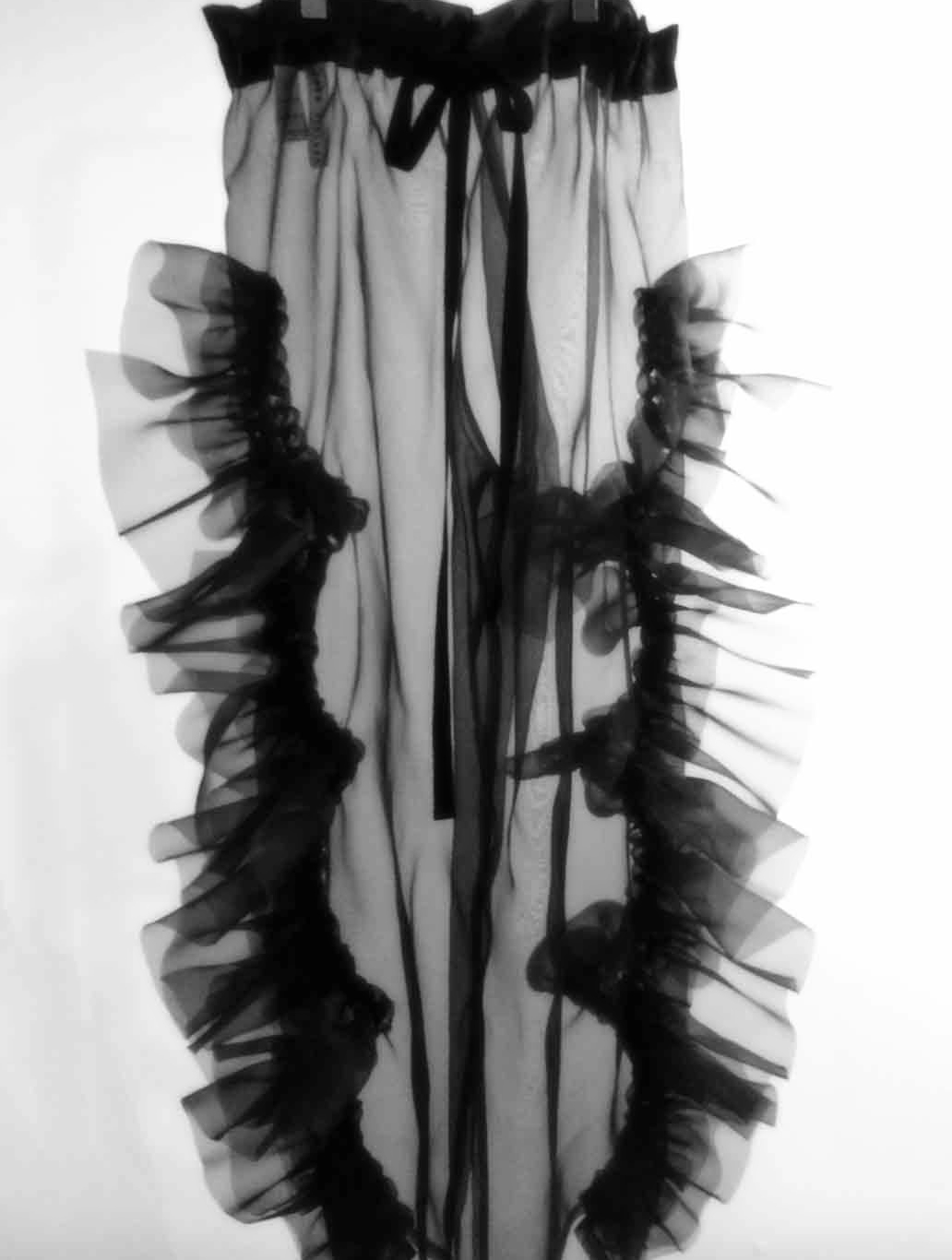 organza hand-linked trousers