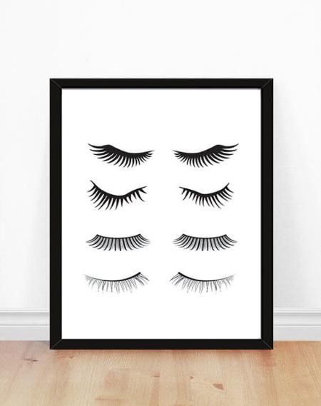 Eyelashes Print from  bonmotprints