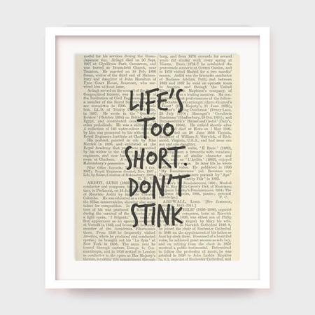 Life's Too Short Bathroom Printable by myprintableartshop