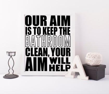 Our Aim Bathroom Art Printable by  DifferenType