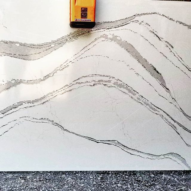Is it just me or does the slab for my clients' new countertop look a little like a mountain range?