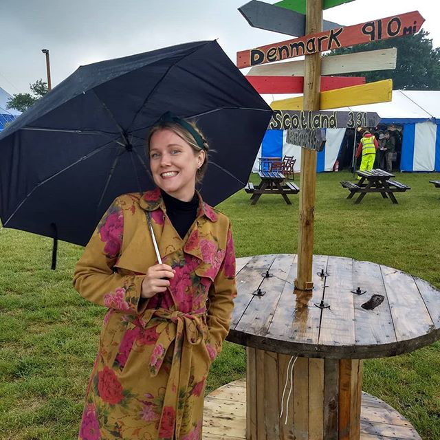 @idawenoe arrives at Gate To Southwell Festival and is reminded of home by both the weather and the signage. Playing today, Saturday and Sunday.