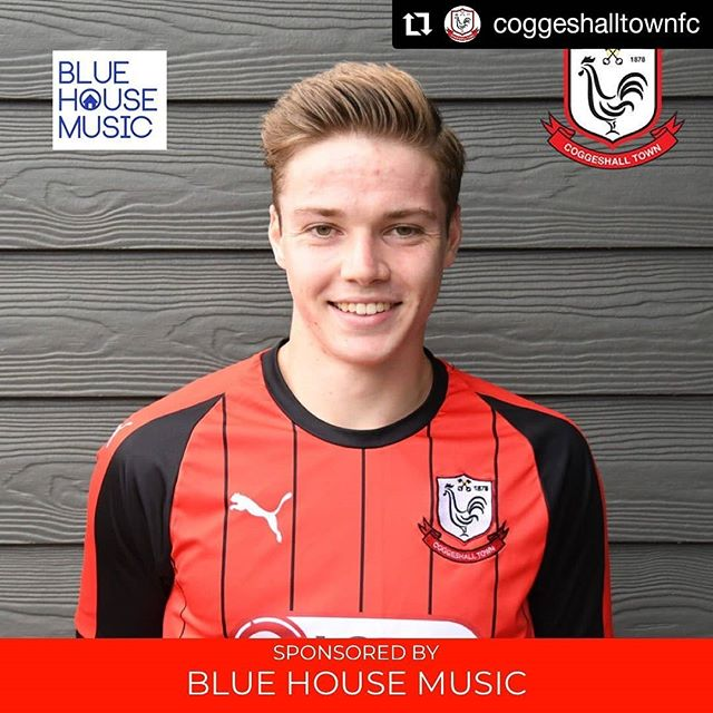 #Repost @coggeshalltownfc • • • • • • 🙌🏼 | Thanks once again to James and the team at @bluehousemusicagency for their continued support of the club as they have sponsored @tom_blackwell_ for the 2019/20 season!  #SeedGrowers 🔴⚫️
