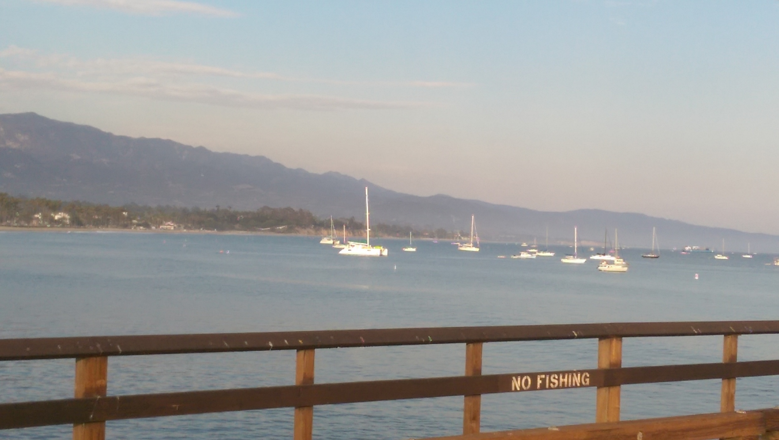 Some yachts on the water in Santa Barbara