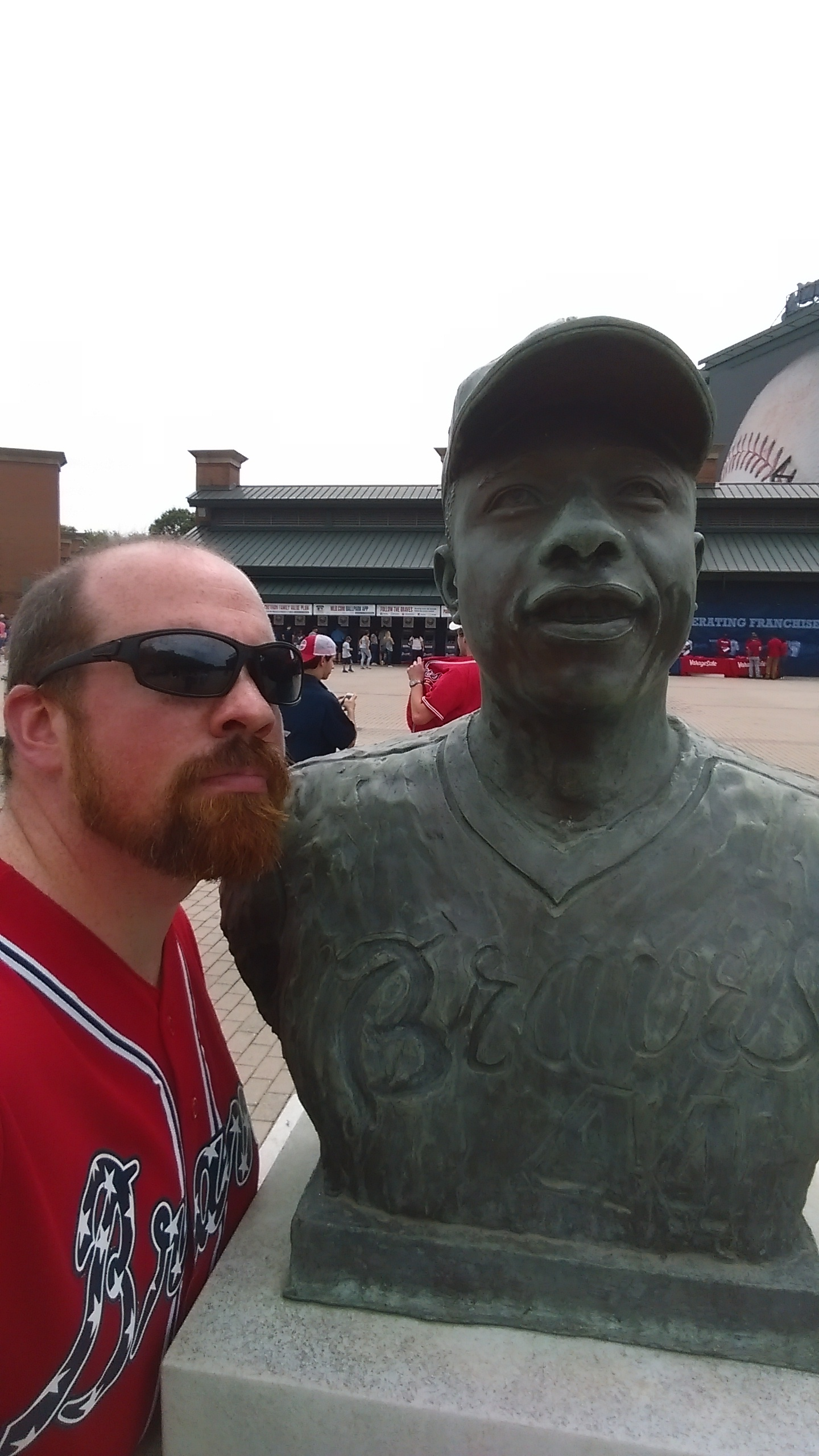 Hank Aaron and me. Two men of note.